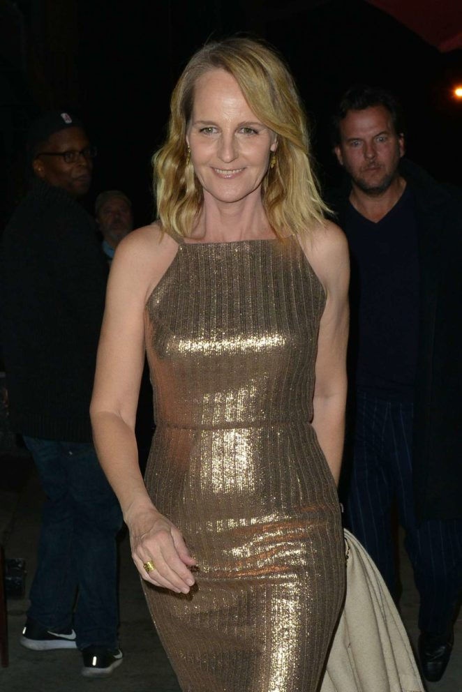 Helen Hunt in Tight Dress at Craig's Restaurant in Hollywood