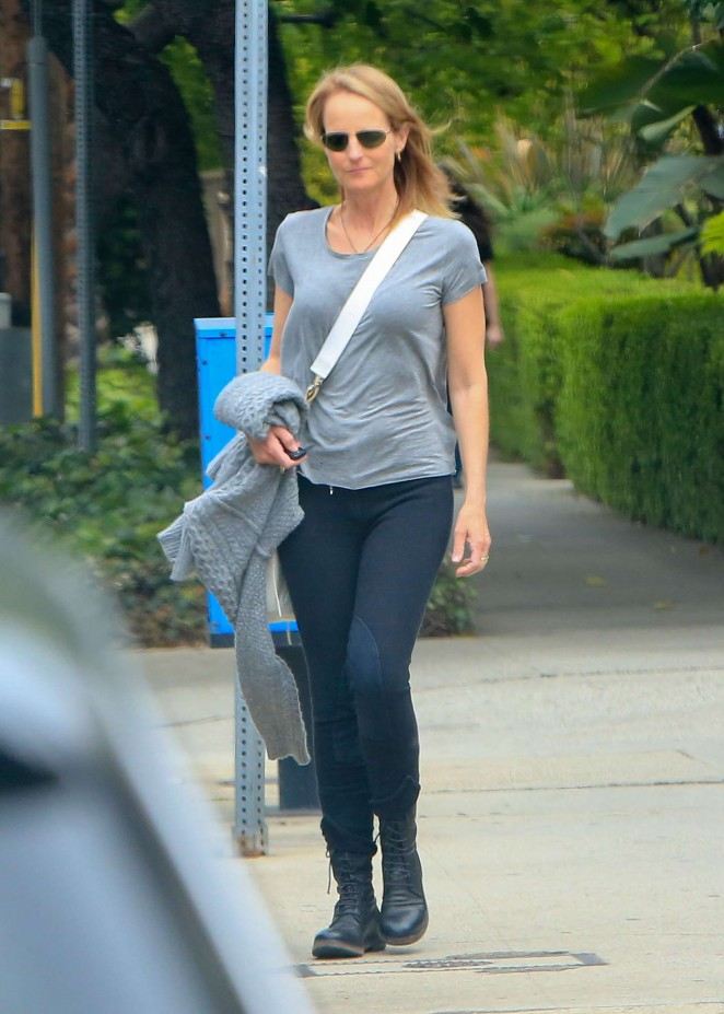 Helen Hunt in Tights out in Brentwood
