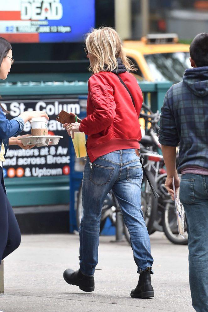 Helen Hunt Leaving a Starbucks in Manhattan