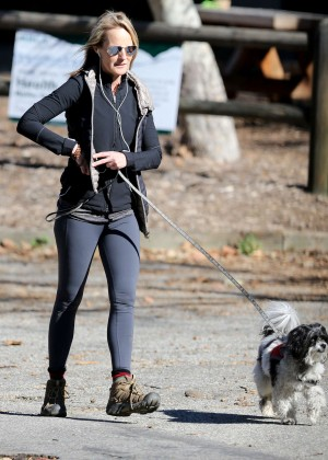 Helen Hunt - Walking her dog in Los Angeles