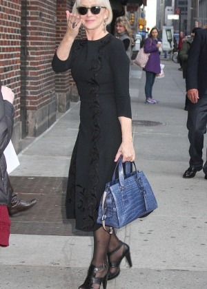 Helen Mirren - Arrives at 'The Late Show with Stephen Colbert' in NY