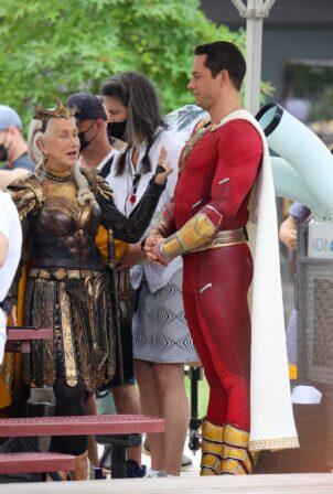Helen Mirren - As villain Hespera alongside Zachary Levi 'Shazam - Fury of the Gods' in Atlanta