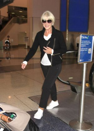 Helen Mirren at LAX airport in Los Angeles