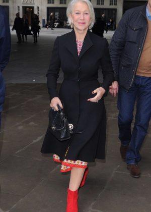 Helen Mirren - Leaving BBC Radio One in London