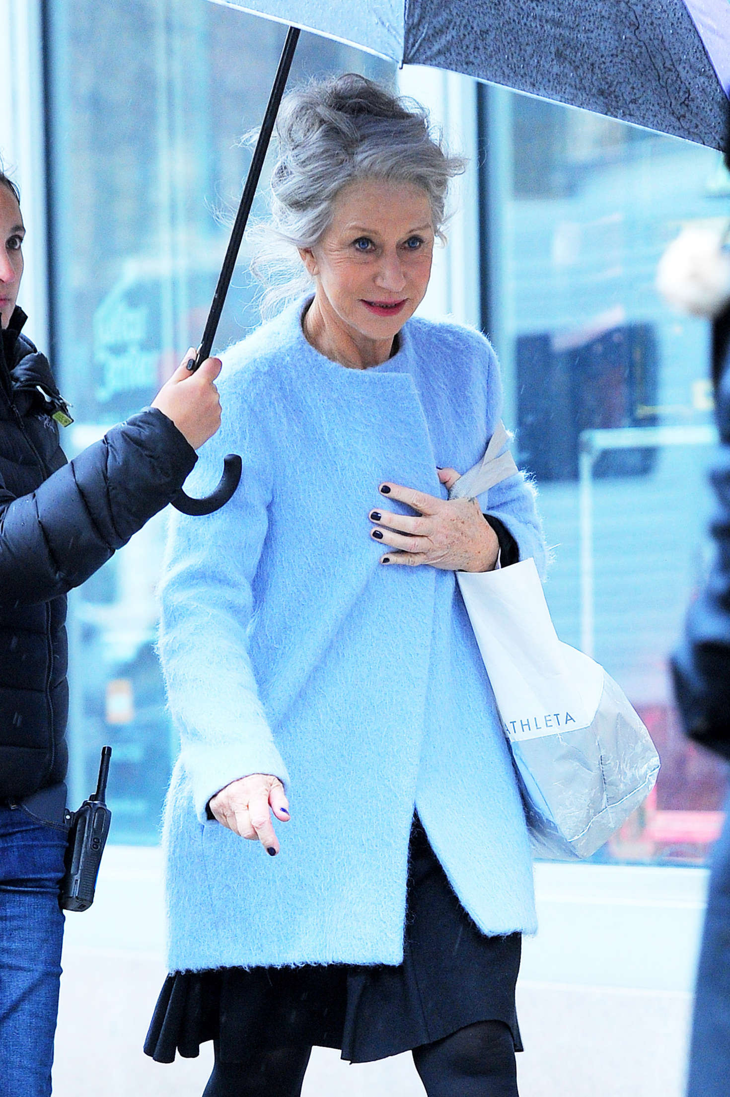 Helen Mirren on the set of 'Collateral Beauty' in New York