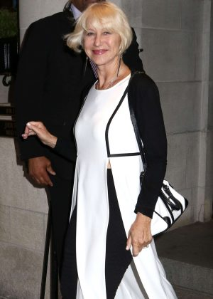 Helen Mirren out in New York