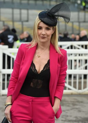 Helen Skelton - Grand National Day at 2018 Aintree Festival in Liverpool