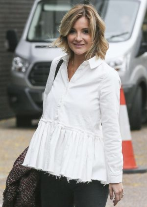 Helen Skelton - Leaving the ITV studios in London