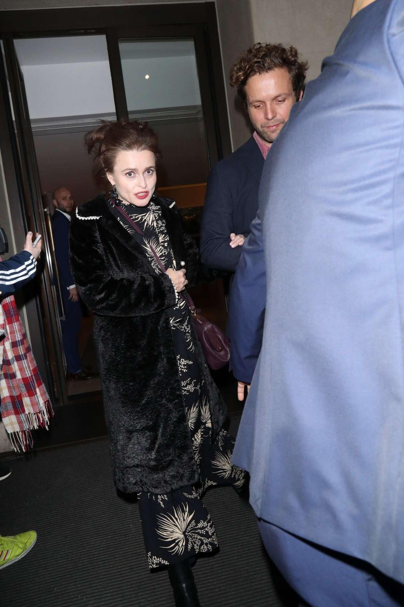 Helena Bonham Carter 2019 : Helena Bonham Carter – Arrives at Grandparents War TV screening-08