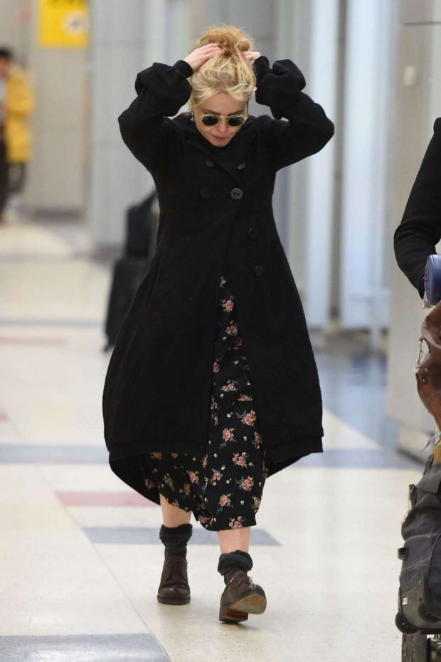 Helena Bonham Carter: Arrives at JFK Airport -01