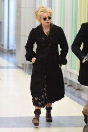 Helena Bonham Carter - Arrives at JFK Airport in NYC