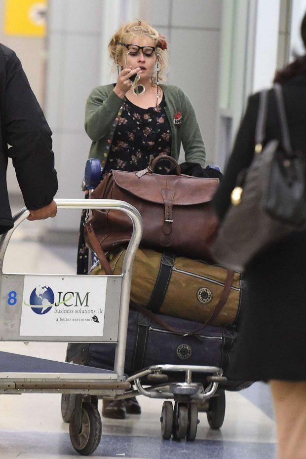 Helena Bonham Carter: Arrives at JFK Airport -04