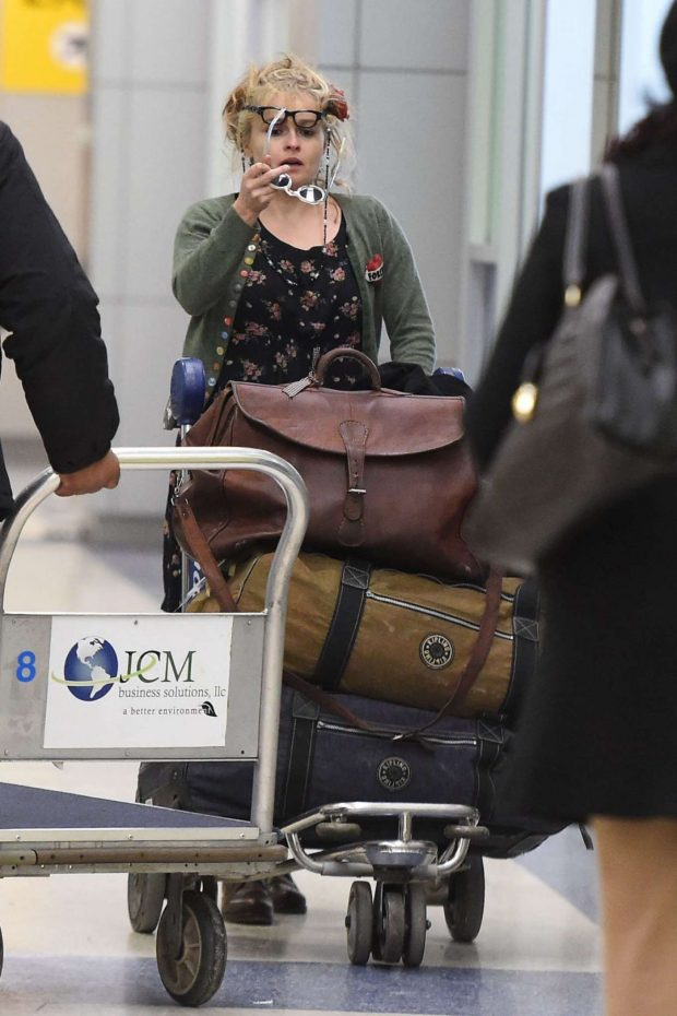 Helena Bonham Carter 2019 : Helena Bonham Carter: Arrives at JFK Airport -07