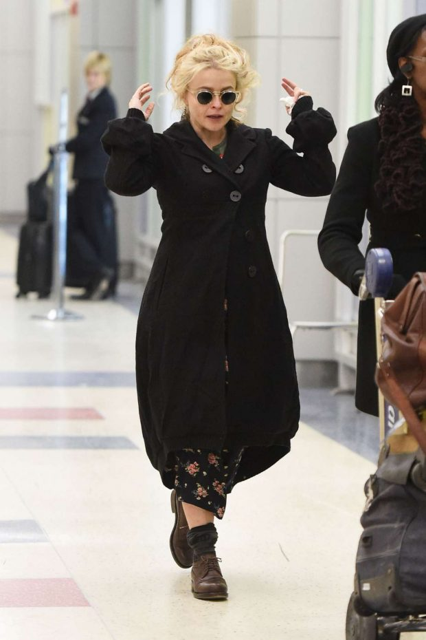 Helena Bonham Carter: Arrives at JFK Airport -08