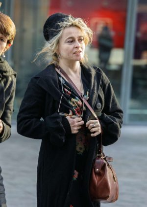 Helena Bonham Carter at Heathrow Airport in London