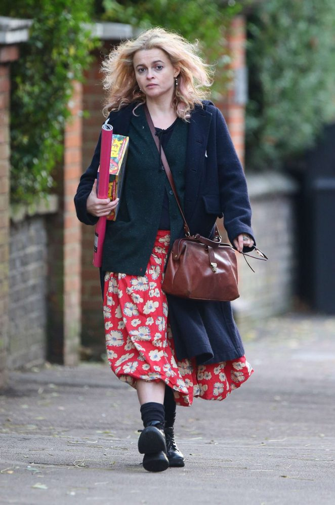 Helena Bonham Carter - Christmas Shopping in London