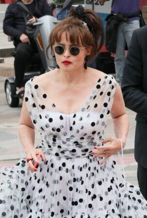 Helena Bonham Carter - Flashes her APP pictured at TV BAFTA Awards arrivals in London