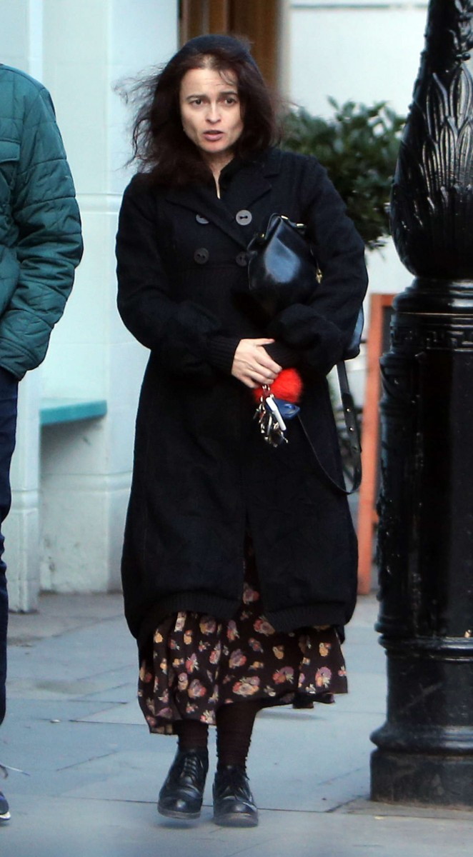 Helena Bonham Carter - Out and about in North London