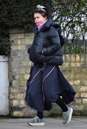 Helena Bonham Carter - Out in a North London area
