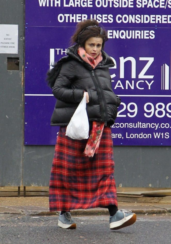 Helena Bonham Carter out in Hampstead