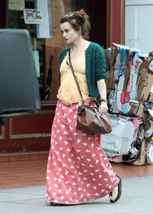 Helena Bonham Carter out in London -01