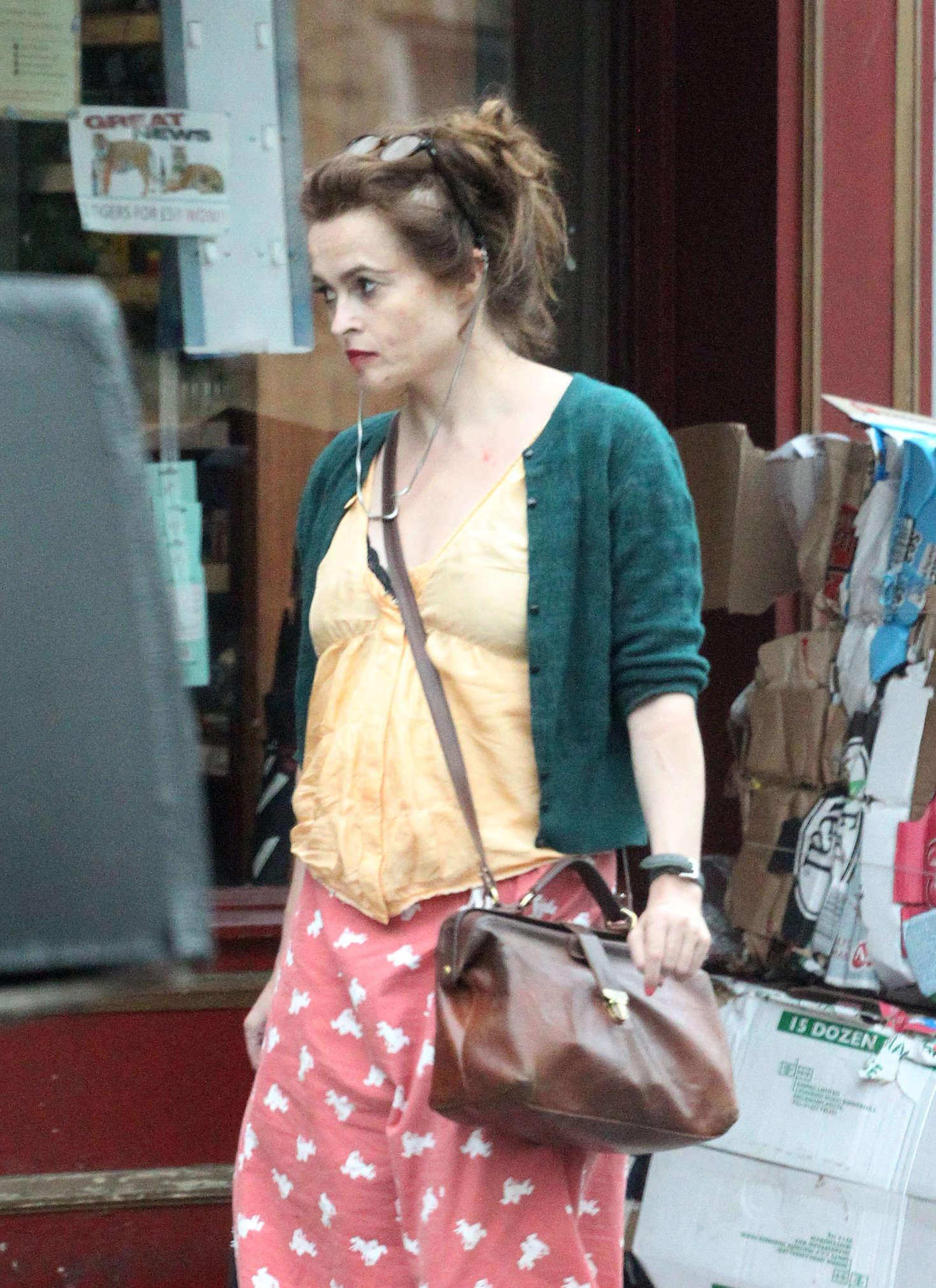 Helena Bonham Carter out in London