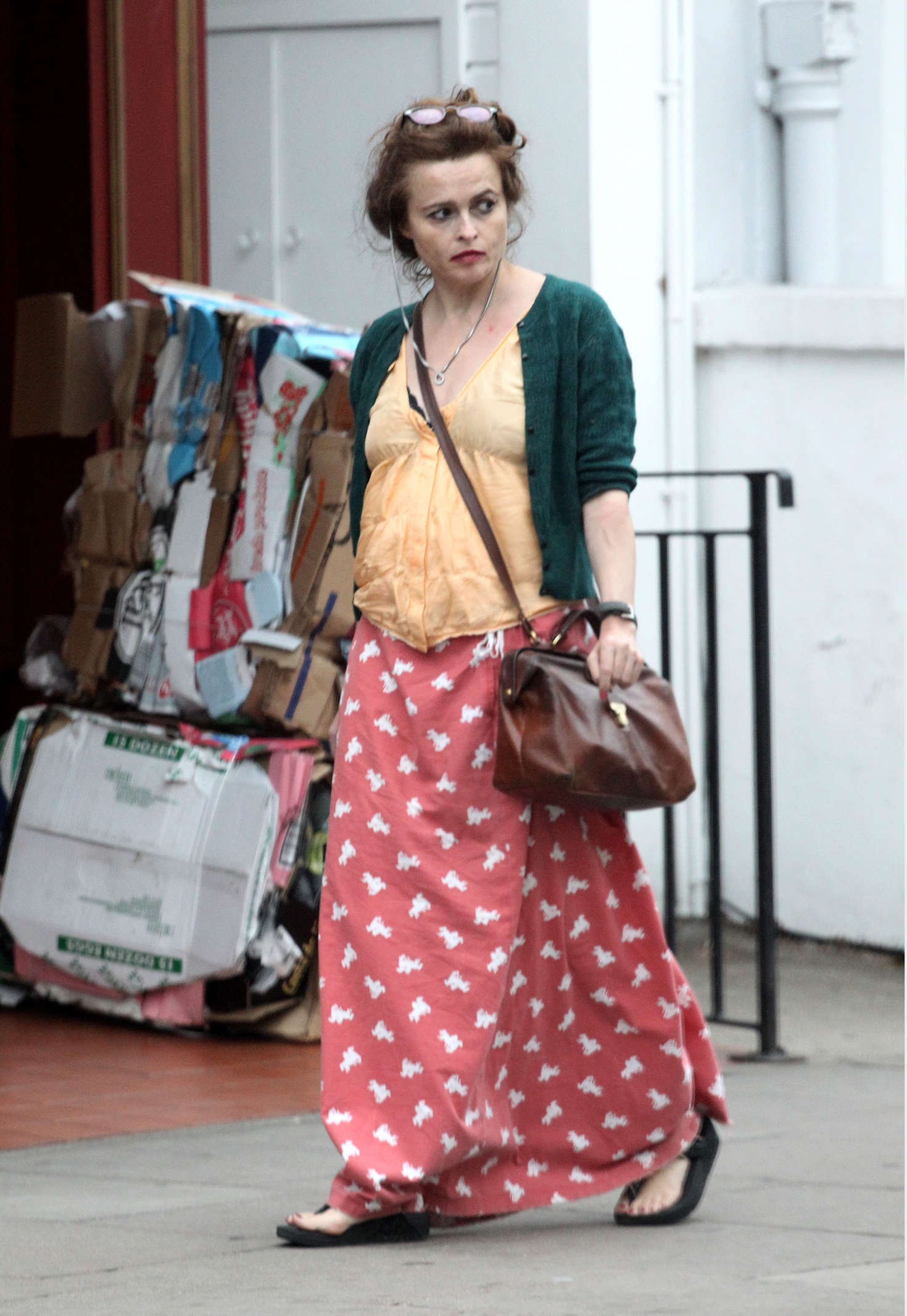 Helena Bonham Carter Out In London -08