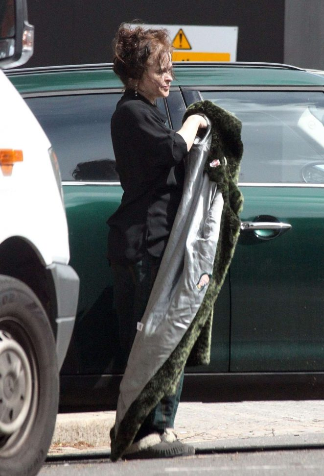 Helena Bonham Carter out in North London -01