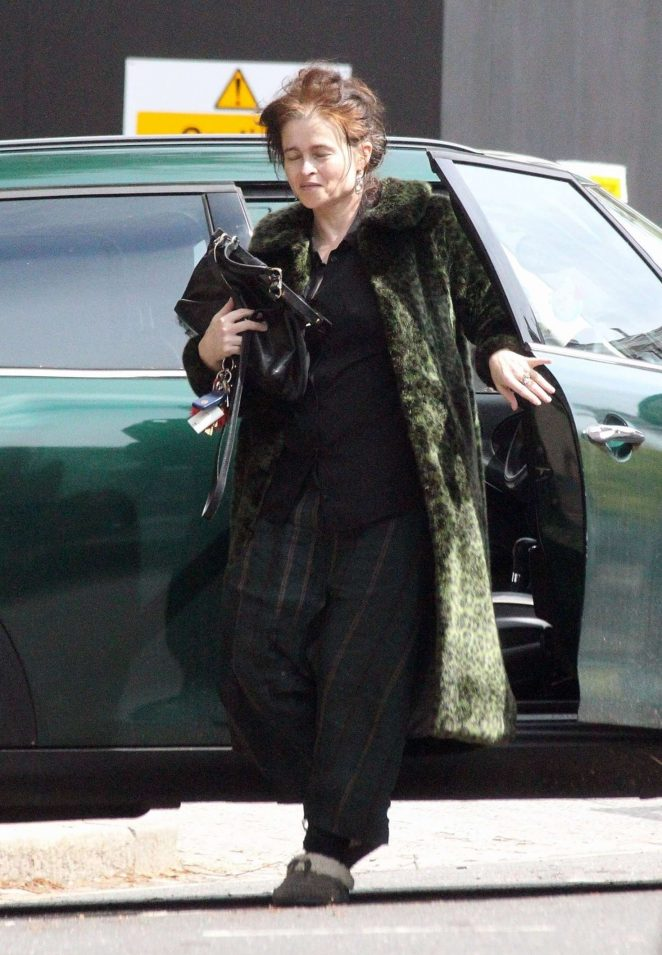 Helena Bonham Carter out in North London