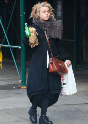 Helena Bonham Carter out in NYC
