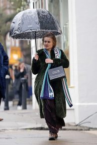 Helena Bonham Carter - Out walking the dog in London