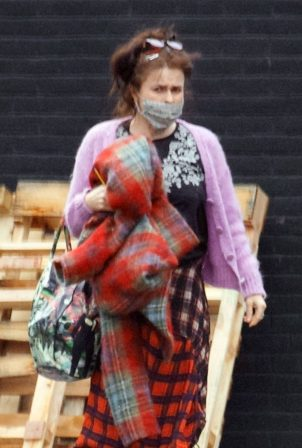 Helena Bonham Carter - Pictured at a studio in South London