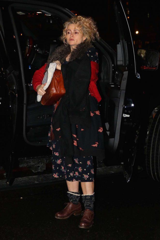 Helena Bonham Carter: Returns home in New York -03
