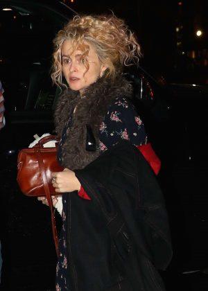 Helena Bonham Carter - Returns home in New York  Helena Bonham Carter