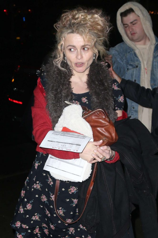Helena Bonham Carter - Returns home in New York