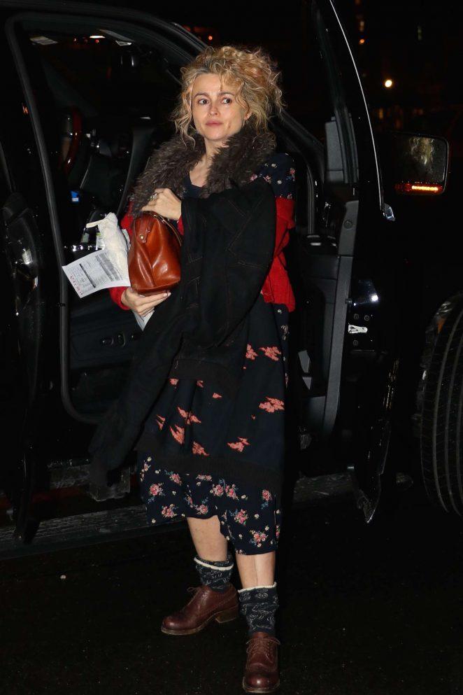 Helena Bonham Carter: Returns home in New York -10