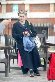 Helena Bonham Carter - Seen at Budgens supermarket in London