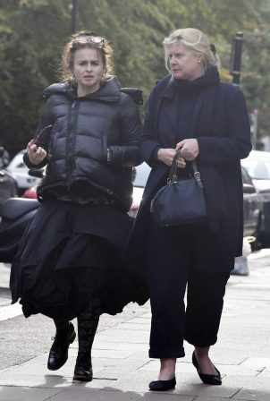 Helena Bonham Carter - Seen at England's Lane with a friend in North London