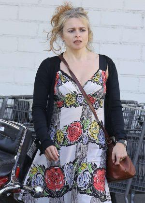 Helena Bonham Carter Shopping at Bristol Farms in West Hollywood