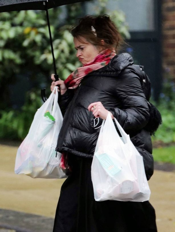 Helena Bonham Carter - Shopping in London