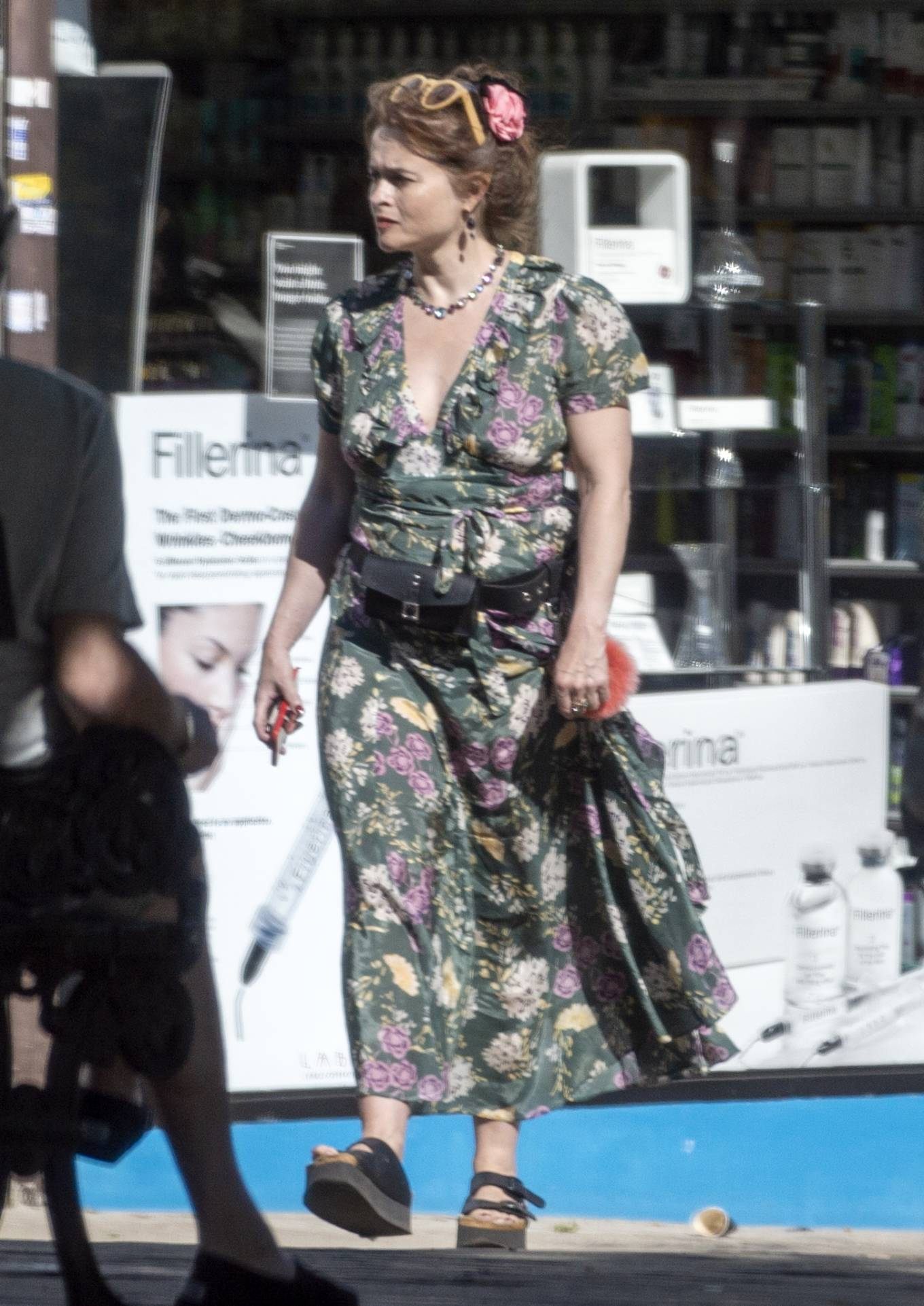 Helena Bonham Carter - Takes her pet dog to the vet in London