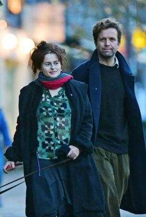 Helena Bonham Carter with boyfriend Rye Dag Holmboe out in London