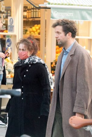 Helena Bonham Carter - With Rye Dag Holmboe spotted while out in London