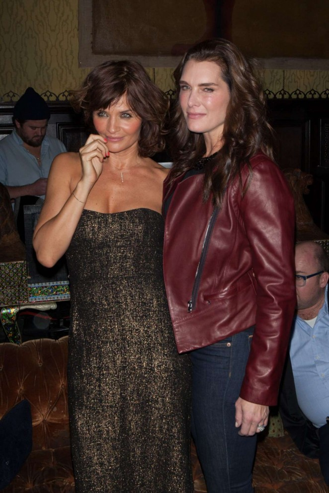 Helena Christensen and Brooke Shields at Reserved Magazine Issue 3 Launch Party -01