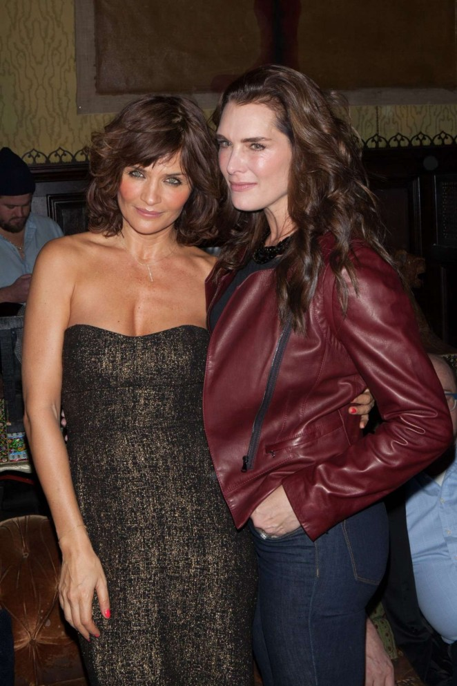 Helena Christensen and Brooke Shields at Reserved Magazine Issue 3 Launch Party in NY