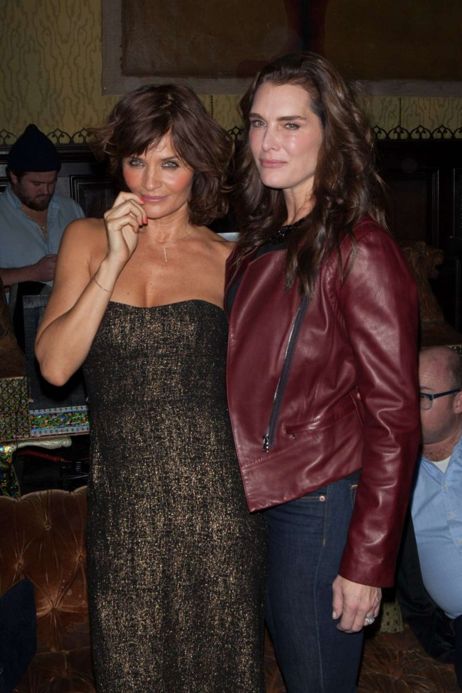 Helena Christensen and Brooke Shields at Reserved Magazine Issue 3 Launch Party -03