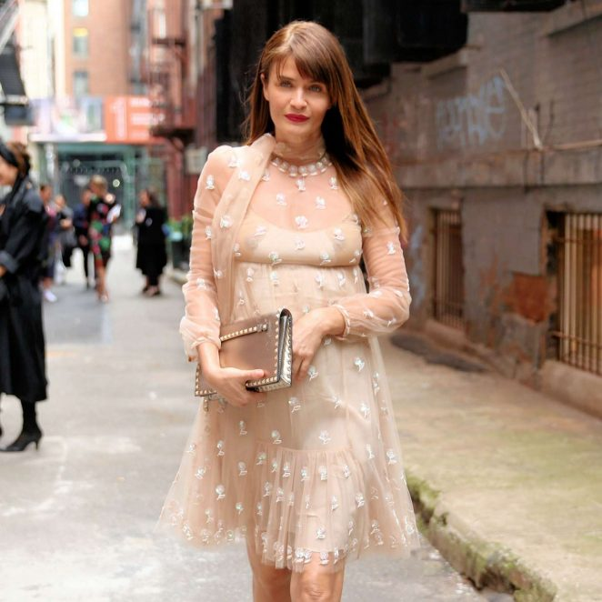 Helena Christensen at Valentino Resort Collection in New York City