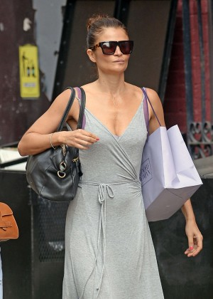 Helena Christensen heading lunch in New York