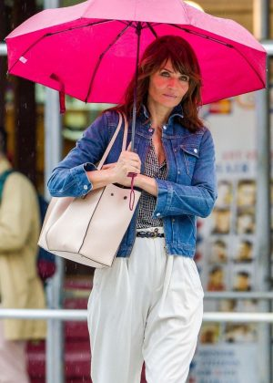 Helena Christensen - Out and about in New York City