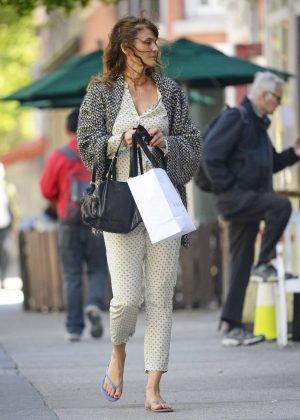 Helena Christensen out in New York City